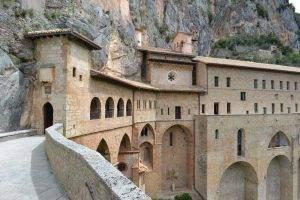 Esterno del Sacro Speco di San Benedetto