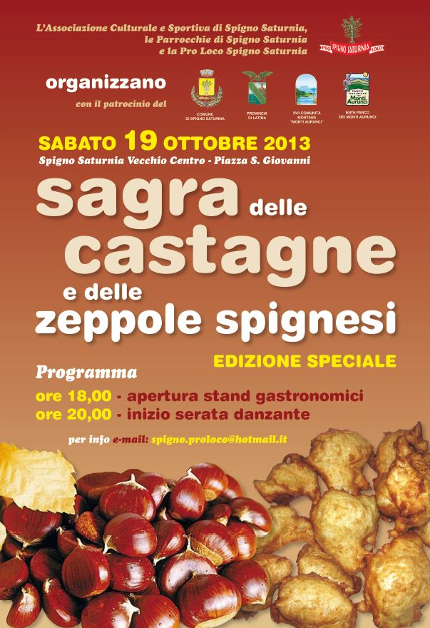 Sagra delle Castagne e delle Zeppole Spignesi