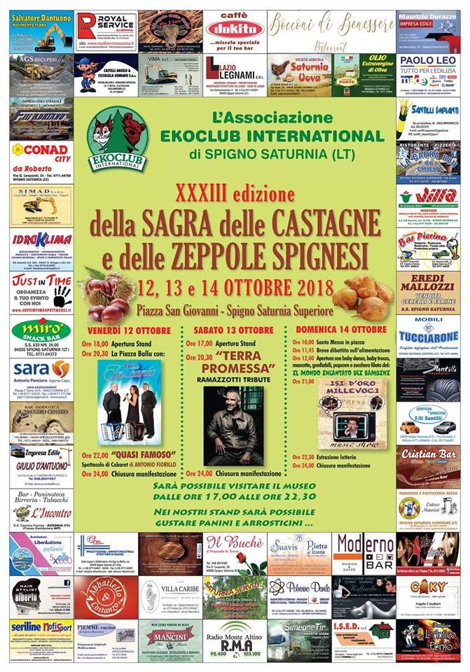 Sagra delle Castagne e delle Zeppole Spignesi a Spigno ...
