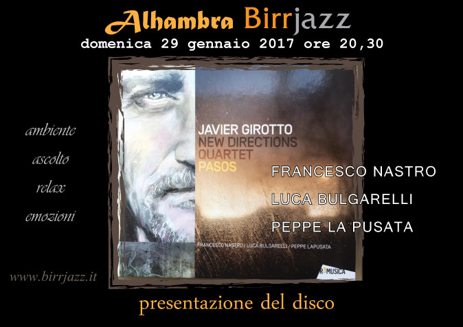 "Javier Girotto New Directions Quartet ""PASOS"""
