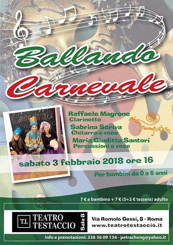 """Concerto per genitori e bambini (0-6 anni) """"Ballando Carnevale"""""""