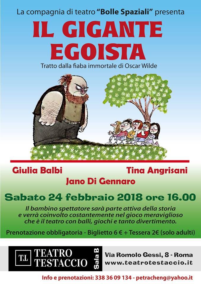 """Spettacolo teatrale per bambini """"Il Gigante Egoista"""""""