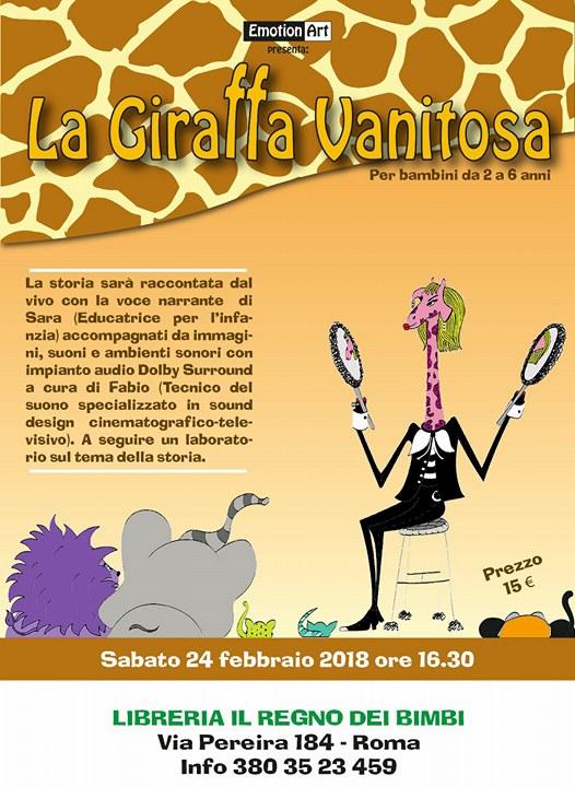 """Lettura animata e laboratorio """"La giraffa vanitosa"""""""