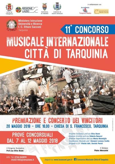 Concorso Musicale Internazionale Città di Tarquinia 2018