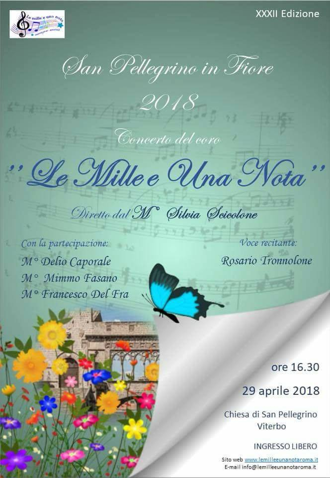 """Concerto """"Le Mille e Una Nota"""" San Pellegrino in Fiore 2018"""