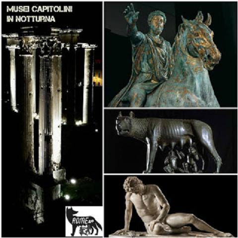 I Musei Capitolini in notturna - Visita guidata con ingresso a 1 euro