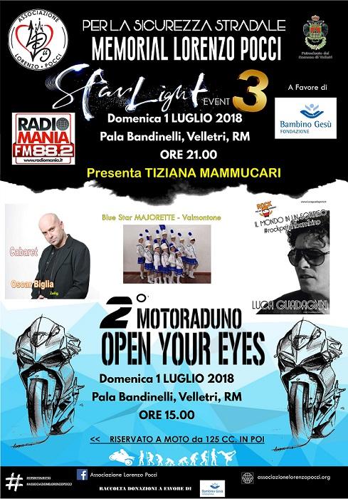 Starlight Event 3 - Memorial Lorenzo Pocci - 2° Moto Raduno Open Your Eyes
