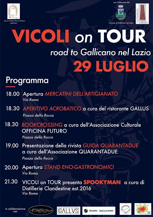 VICOLI on TOUR road to Gallicano nel Lazio