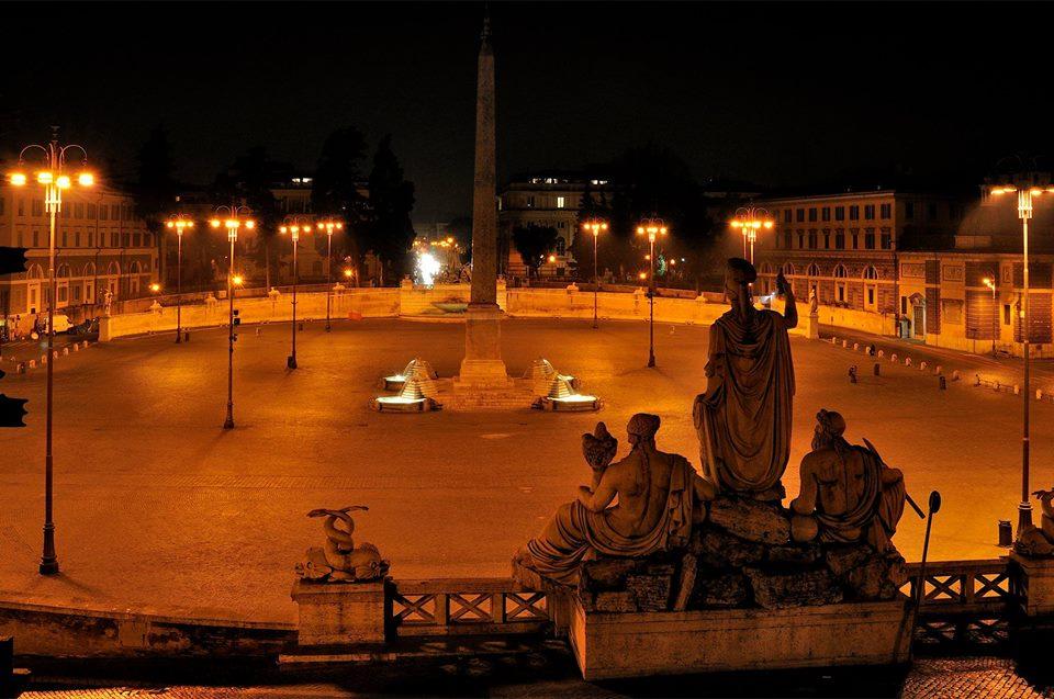 Roma di Notte: Obelischi di Roma illuminati