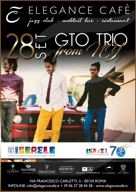 GTO Trio a tutta bossa all'Elegance Cafè Jazz Club