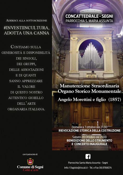 Manutenzione straordinaria Organo Morettini