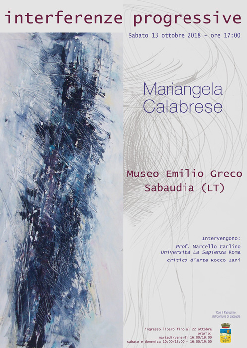 Inaugurazione mostra personale presso Museo Emilio Greco