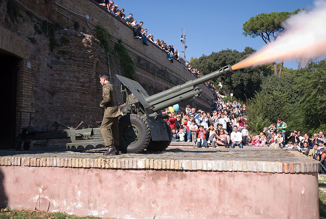 Il Gianicolo di Garibaldi e lo sparo del cannone di mezzogiorno